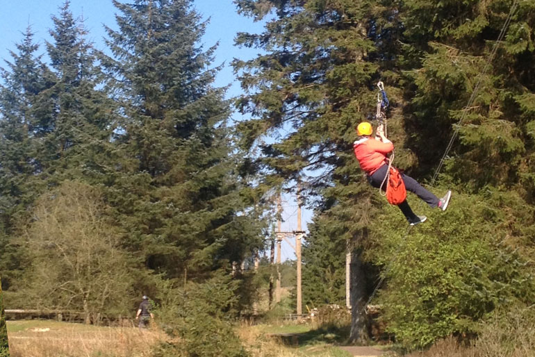 Kielder Water zip wire