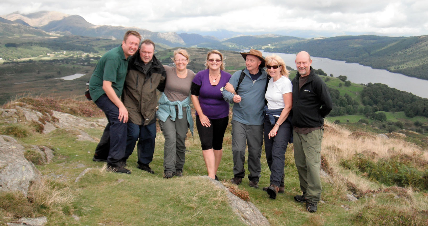 Lake District group photo on hillside