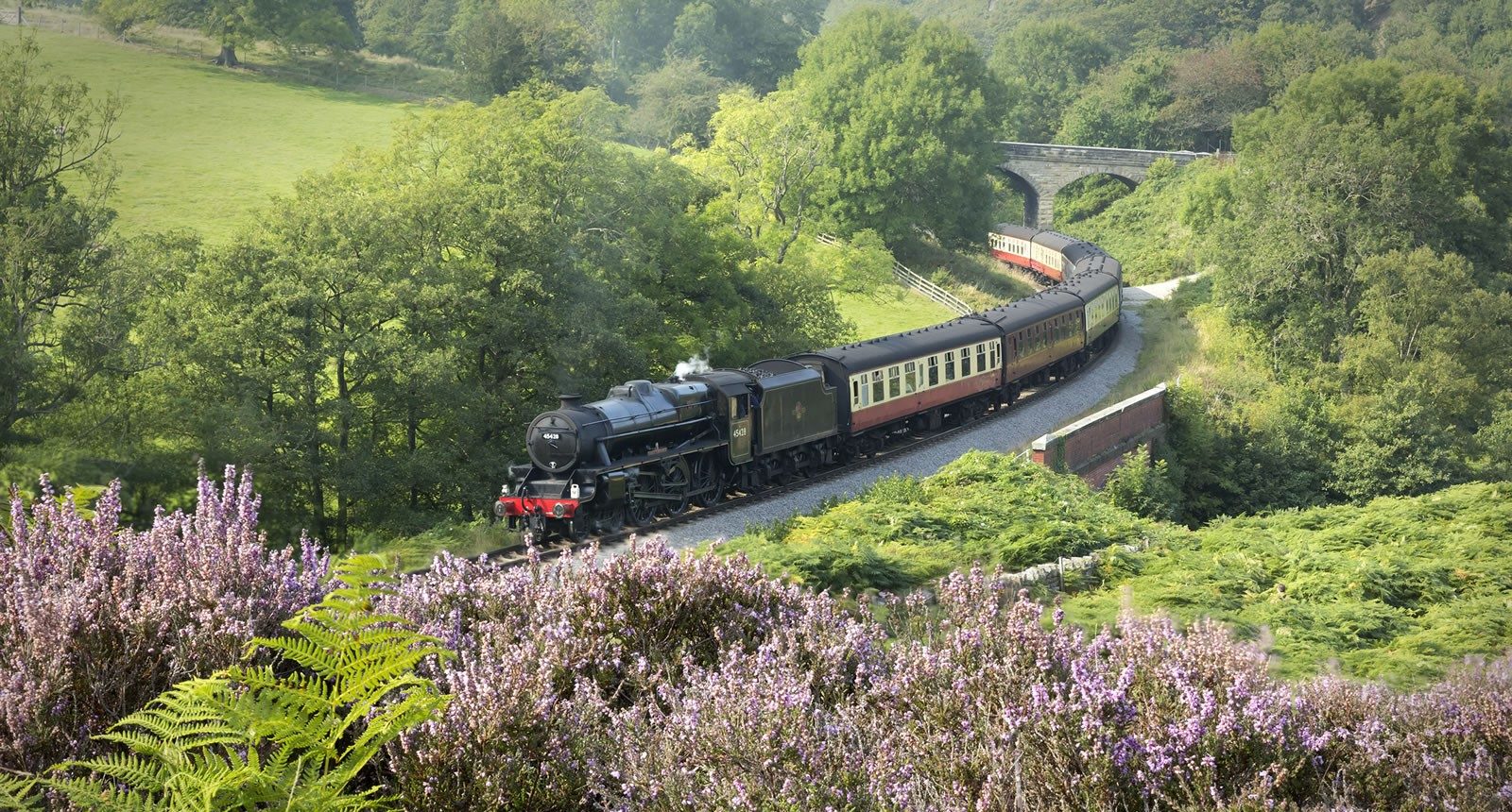 train on tracks in yorkshire
