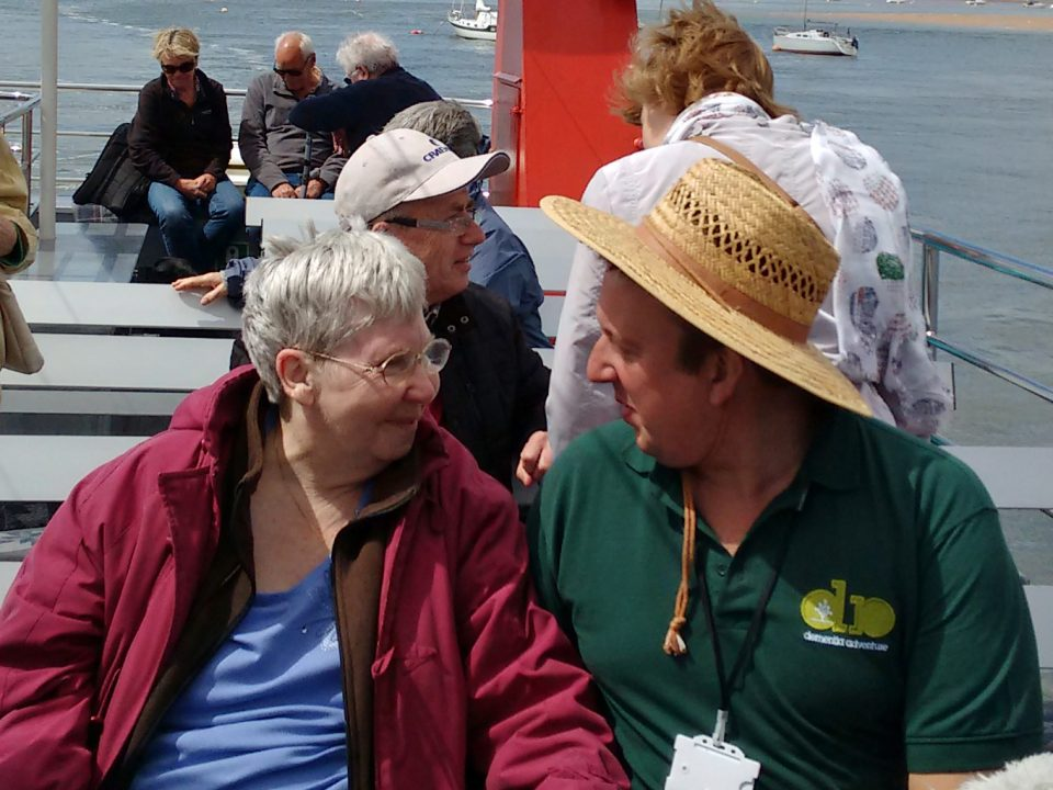 lady with dementia on boat