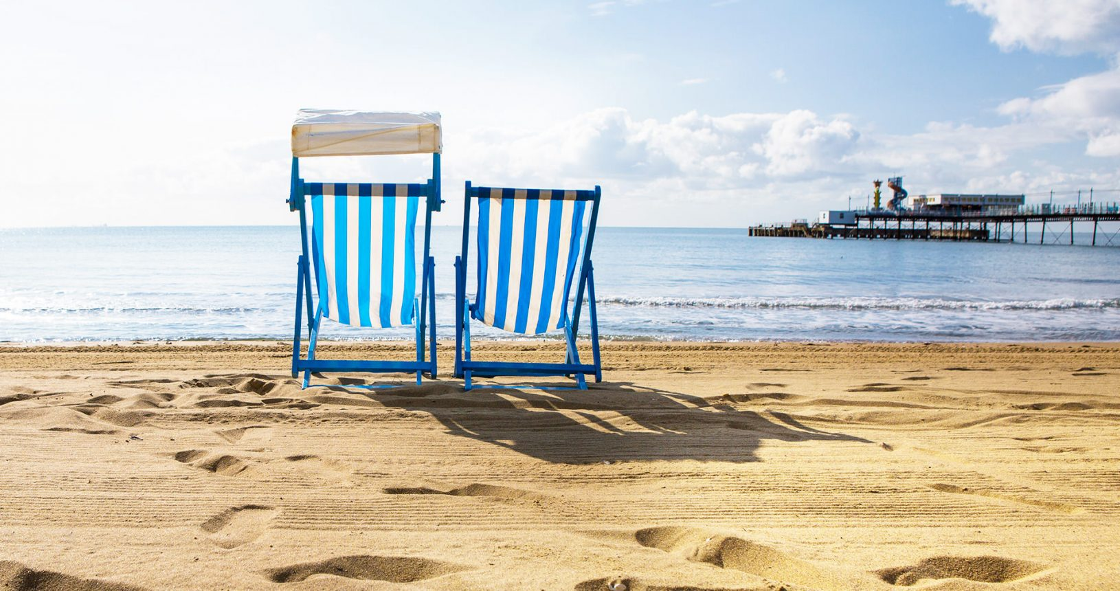 Deckchairs on Isle of Wight