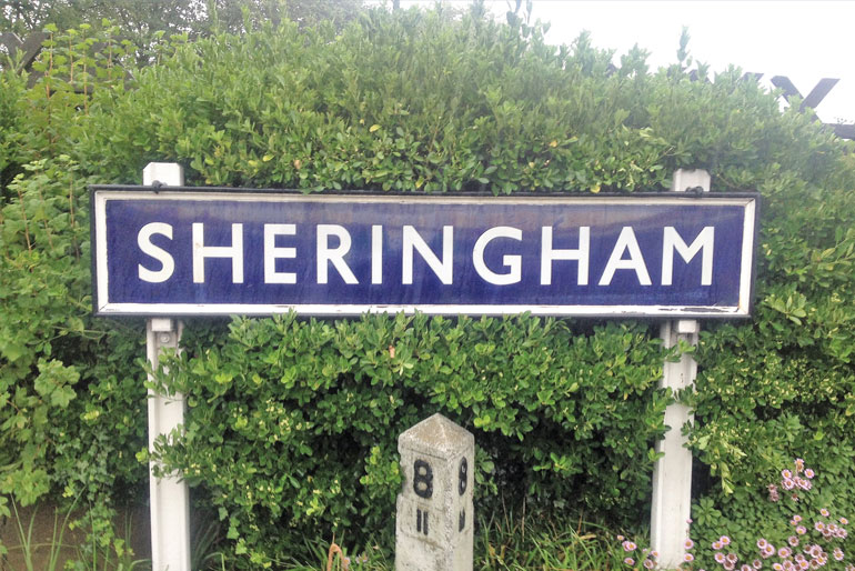 Norfolk Sheringham sign