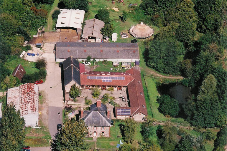 Aerial view of acoomodation