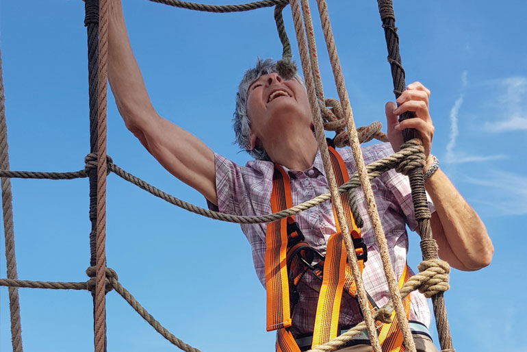 Climbing the ropes
