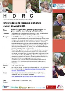 Natural Connections Event Flyer