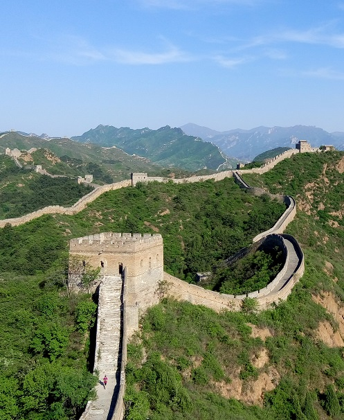 Great Wall of China Arial Shot